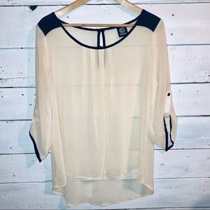 Bobeau Sheer Blouse SZ Sm